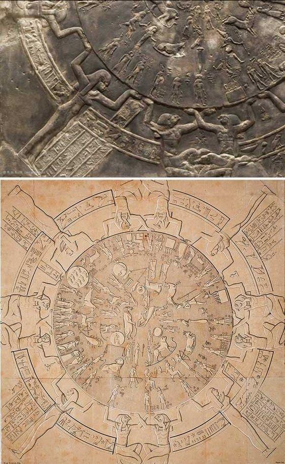 Первый в мире зодиакальный круг Древних Египтян. Так умны или кто-то подсказал? археология, загадки, нло, предки, рисунки, тайны, ученые, фрески