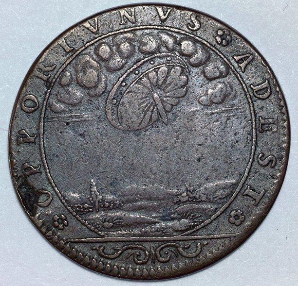 Эта монета с изображением диска, похожего на НЛО, была отчеканена во Франции в 1680 году. Что хотел сказать автор этим изображением, никто объяснить не может. археология, загадки, нло, предки, рисунки, тайны, ученые, фрески