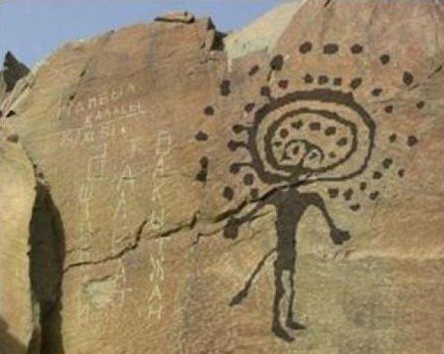 Солнцеголовые существа на петроглифах Тамгалы, Казахстан археология, загадки, нло, предки, рисунки, тайны, ученые, фрески