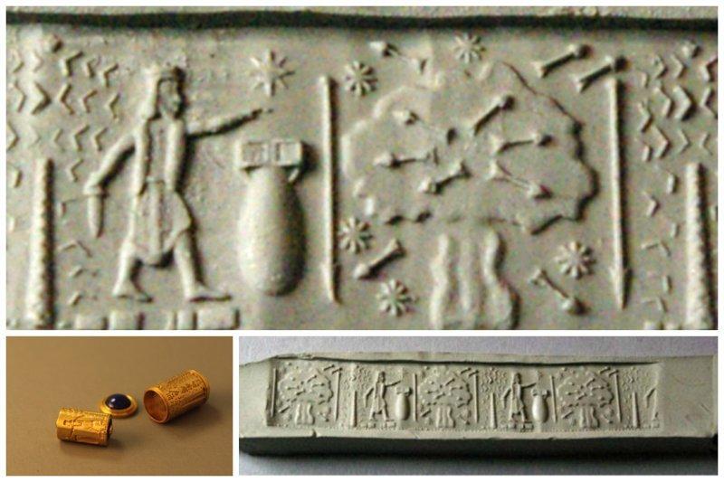 Печать Короля Месопотамии Навуходоносора II (частная коллекция) Ядерная бомба и война? археология, загадки, нло, предки, рисунки, тайны, ученые, фрески