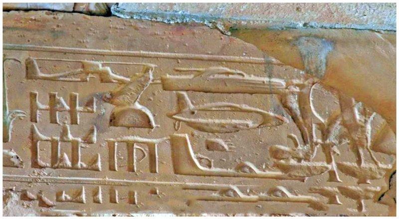 Древние Египтяне тоже что-то знали о будущем. А может они все это видели у себя, в настоящем? археология, загадки, нло, предки, рисунки, тайны, ученые, фрески