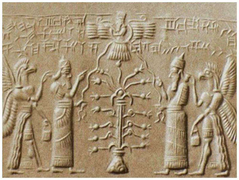 Шумеры - загадочный народ. Учены и про них говорят, что те летали в космос и видели инопланетян археология, загадки, нло, предки, рисунки, тайны, ученые, фрески