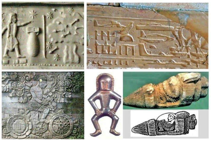 Доказательство того, что наши предки  видели НЛО и предвидели будущее археология, загадки, нло, предки, рисунки, тайны, ученые, фрески