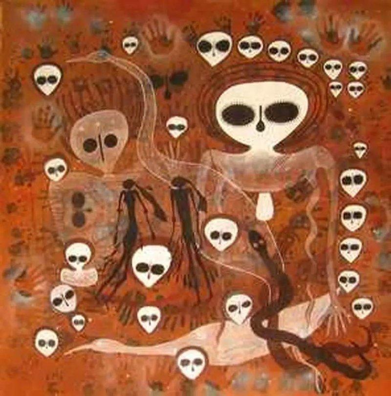 Фрески Тассили в Сахаре археология, загадки, нло, предки, рисунки, тайны, ученые, фрески