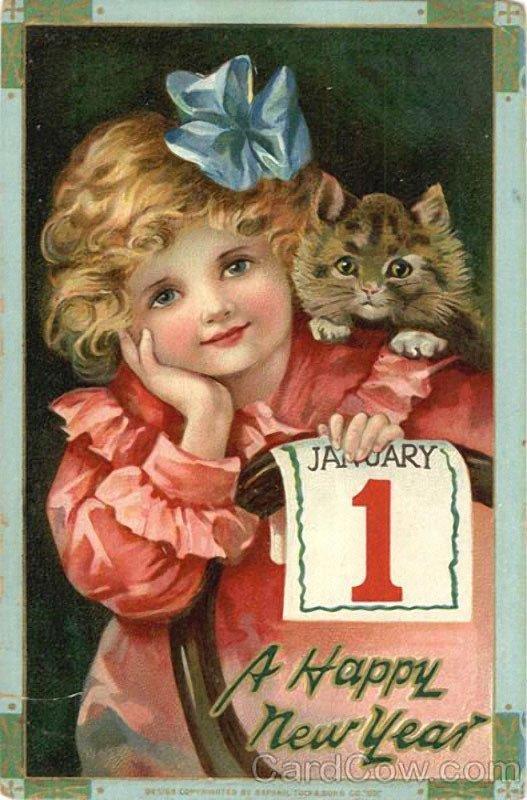 Фото винтажных новогодних открыток