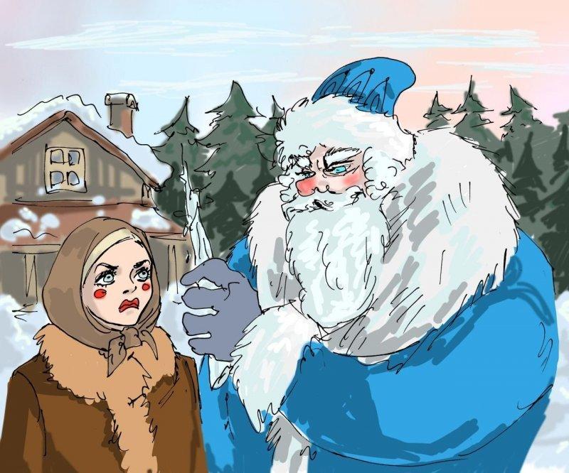 Жизнь вторая. Добрый не убьет дед мороз, интересно, миф, новый год, сказка, сказки, сказочный персонаж, снегурочка