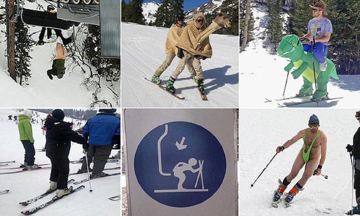 Смешные картинки про горнолыжников с надписями