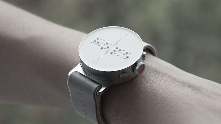 Умные часы со шрифтом Брайля дизайн, изобретатели, изобретения, инновации, наука, новинки, технологии, технологические прорывы