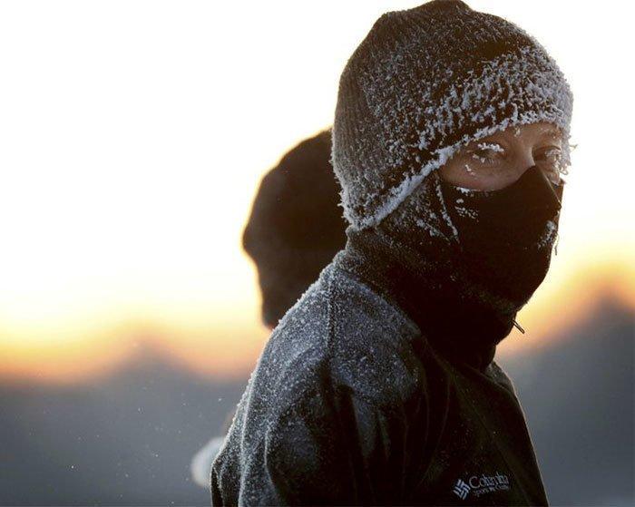 28. На пробежке канада, мороз, погода, сша, фото, холод, явление
