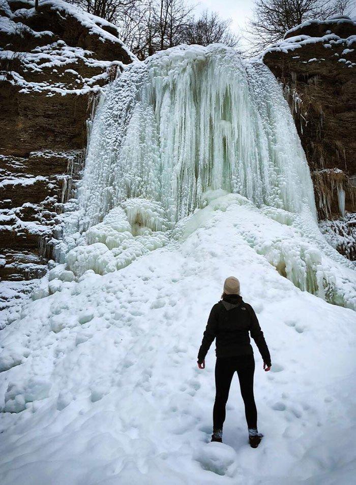 20. Ледяной водопад канада, мороз, погода, сша, фото, холод, явление