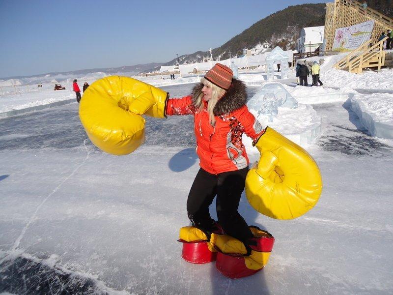 11. Бои на льду ватрушки, зима, зимние развлечения, россия, сани, смешно, фото