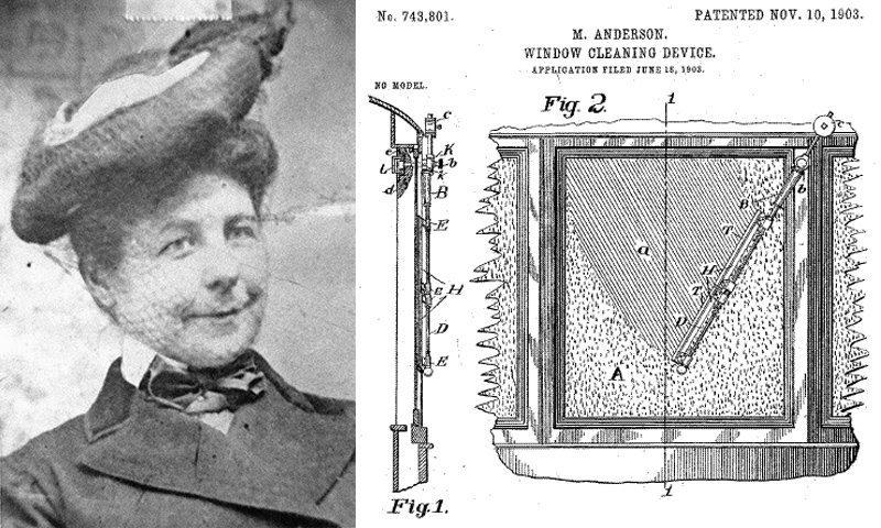 Мэри Андерсон - автомобильные дворники вещи, всячина, изобретатели, интересное, факты