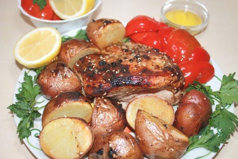 Готовим индейку с картошкой