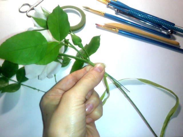 сборка цветка изготовление цветка, лепка розы, рукоделие с процессом, создание розы из фарфора, цветы из глины