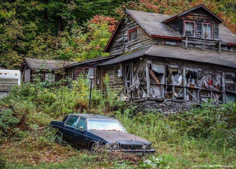 Брошенный дом в Катскиллских горах. америка, нью-йорк, олдтаймер, ретро авто, ретро автомобили, сша, фото, фотографии