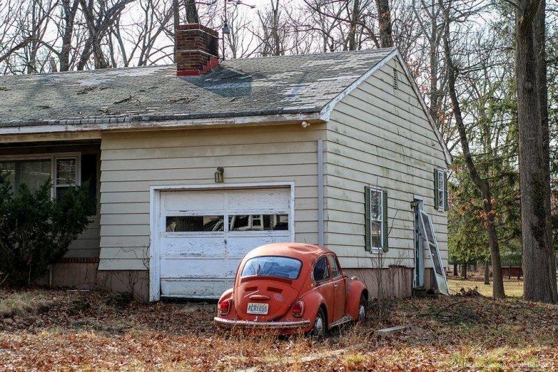 Брошенный дом в Нью-Джерси. америка, нью-йорк, олдтаймер, ретро авто, ретро автомобили, сша, фото, фотографии