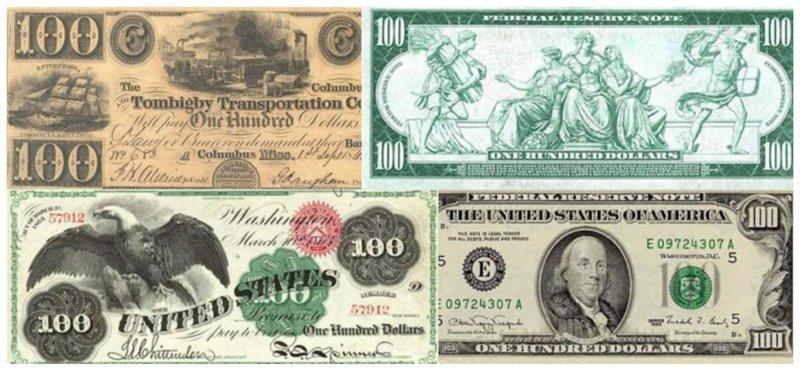 100-долларовая купюра вещи, интересное, картинки, факты, эволюция