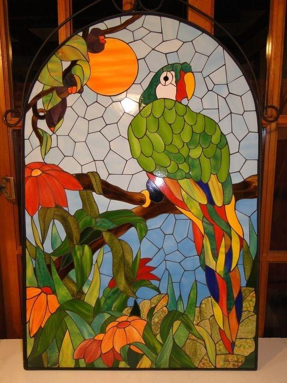 Птицы Фабрика идей, интересное, красота, мозаика