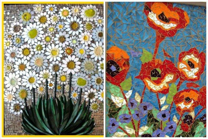 Если надумаете заняться мозаикой, вот вам кучка идей Фабрика идей, интересное, красота, мозаика