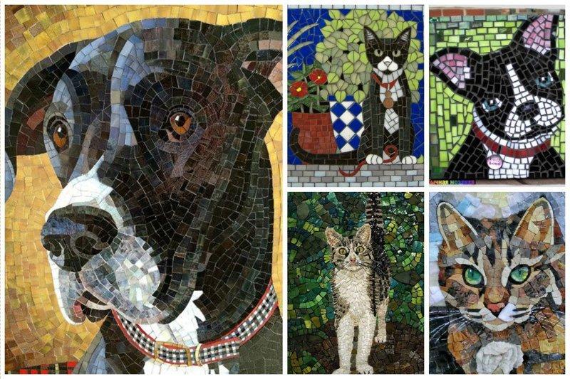 Прелестные кошечки-собачки и прочие животные Фабрика идей, интересное, красота, мозаика