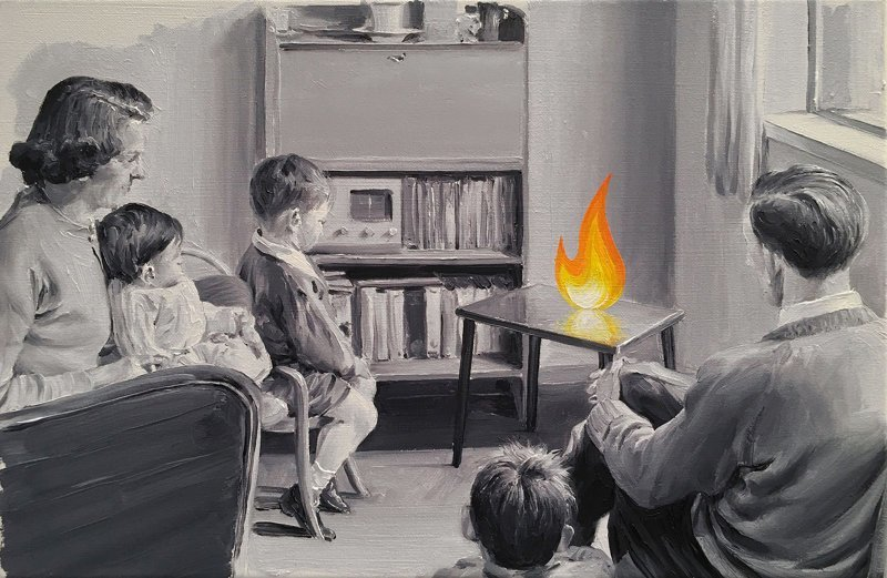 Неупорядоченная нормальность: сюрреалистические картины Пако Помета искусство, картины, пако помет, рисунок, художник