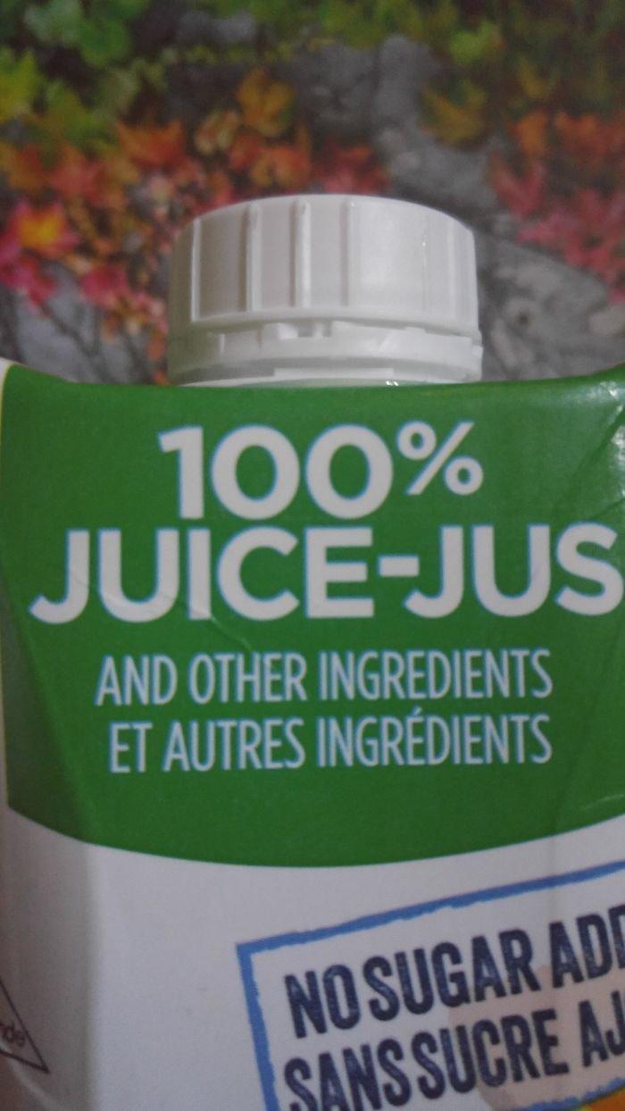 100%-ный сок... и другие ингредиенты аферисты, введение в заблуждение, жулики, жульничество, покупатели, потребители, товары и услуги, упаковка