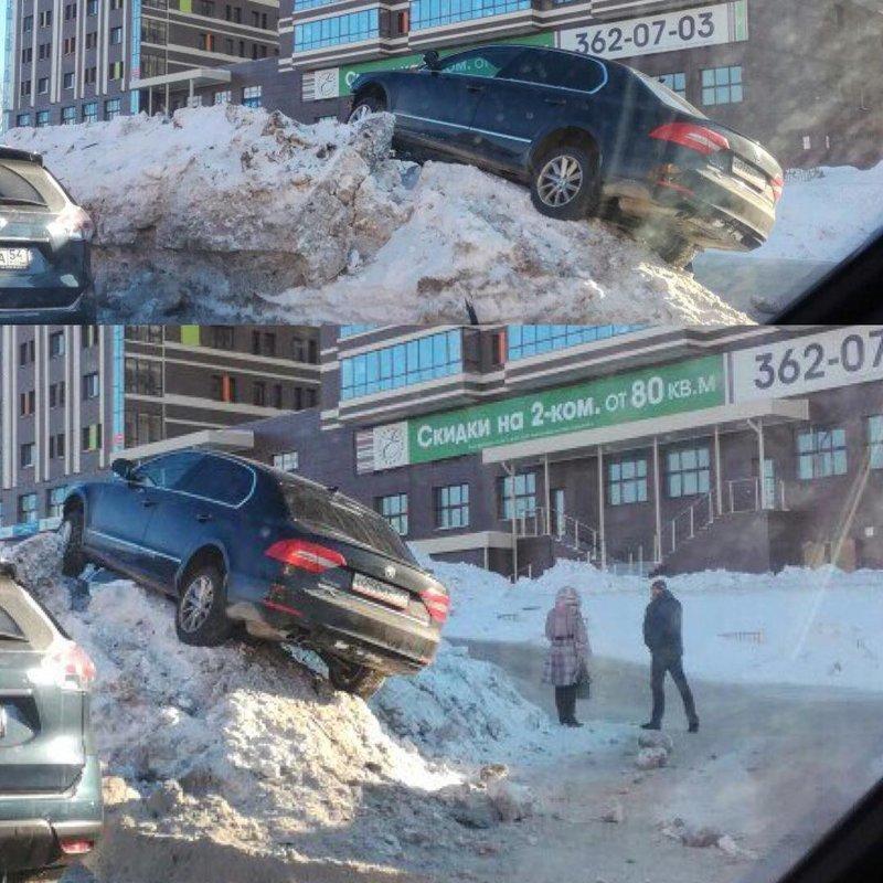 """Многие обвиняют этих водителей, называя их """"мастерами"""" парковки. А может быть их подставили ученые и телепортация? автомобиль, дтп, прикол, телепортация, ученые, что тут произошло, юмор"""