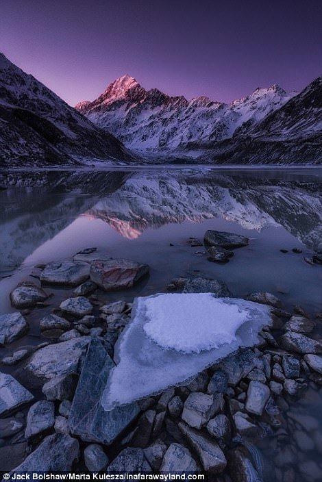Mount Cook - най-високата в Нова Зеландия в света, красиви снимки, красива гледка, пейзажи, природа, пътуване, снимки, фотографи