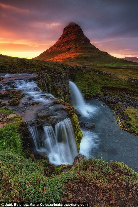 Mount Kirkufetl в Исландия в света, красиви снимки, красива гледка, пейзажи, природа, пътуване, снимки, фотографи