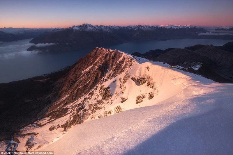 Mount Ben Lomond в Куинстаун, Нова Зеландия в света, красиви снимки, красива гледка, пейзажи, природа, пътуване, снимки, фотографи