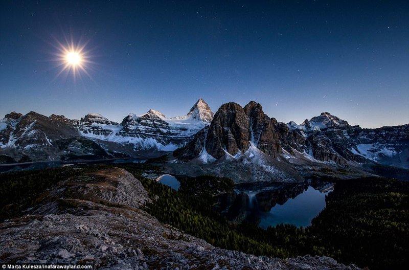 Mount Assiniboin в Канада по света, красиви снимки, красива гледка, пейзажи, природа, пътуване, снимки, фотографи