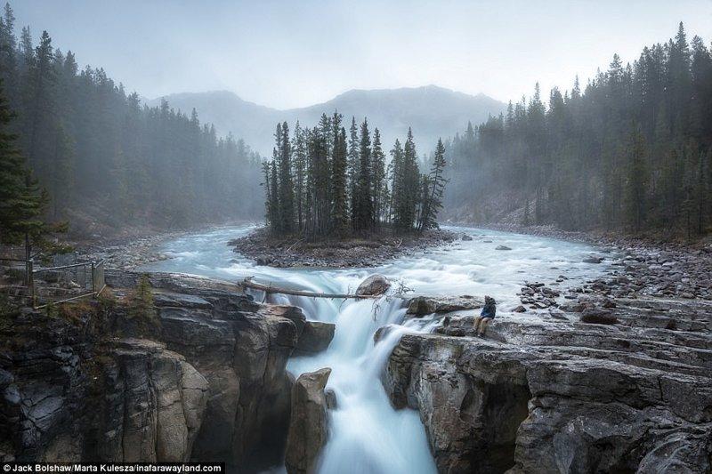 Водопадът Sanripta в Icefields Park, Канада по света, красиви снимки, красива гледка, пейзажи, природа, пътуване, снимки, фотографи