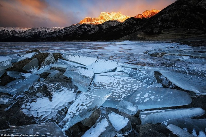 Замразено езеро Авраам в Канада по света, красиви снимки, красива гледка, пейзажи, природа, пътуване, снимки, фотографи