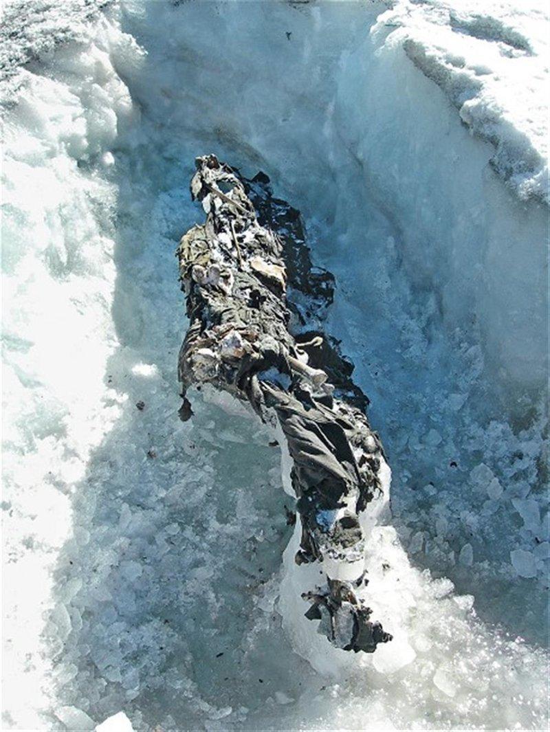 Останки солдат Первой мировой в Альпах Мамонты, интересное, мумии, находки, палеонтология, подо льдом, фото