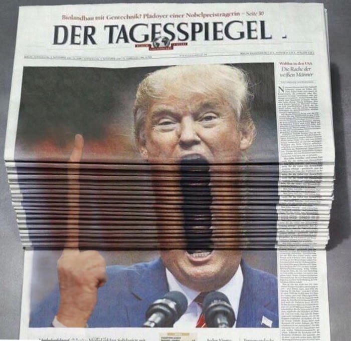 А вот и работы фотошоперов Дональд Трамп, битва, газета, снимок, тролль, фото, фотошоп