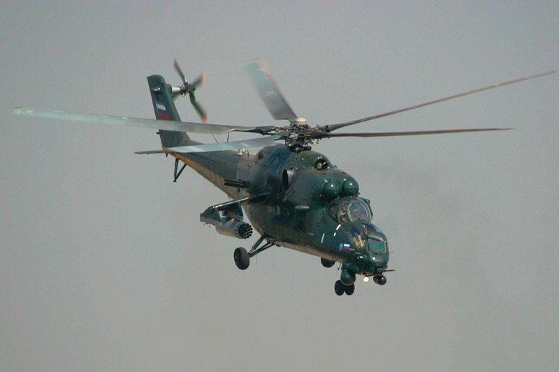 Ми-35 - транспортно-боевой вертолет круглосуточного применения, глубокая модификация Ми-24. Является одним из самых продаваемых боевых российских боевых вертолетов за рубеж.  Вертолеты России, Ми-1, Ми-24, Ми-8, авиаконструктор Михаил Миль