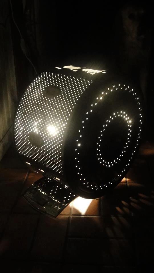 """Напольный светильник в стиле """"техно"""" Фабрика идей, лайфхаки для дома и сада, переделки, своими руками, стиральная машина"""