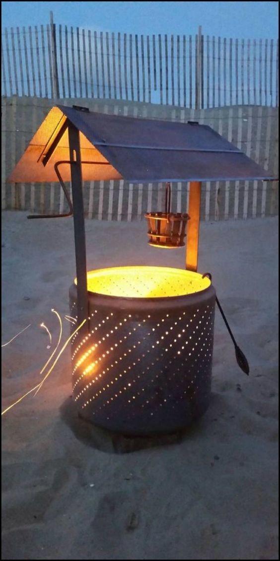 7. Декоративный элемент с подсветкой Фабрика идей, лайфхаки для дома и сада, переделки, своими руками, стиральная машина