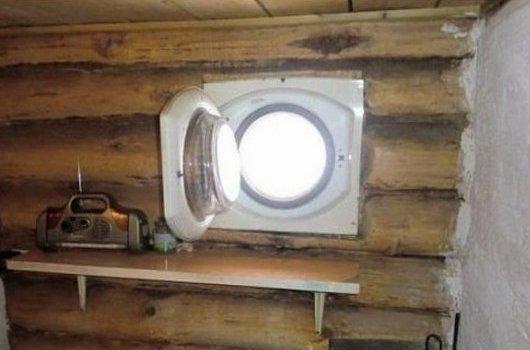 14. Окно-иллюминатор Фабрика идей, лайфхаки для дома и сада, переделки, своими руками, стиральная машина