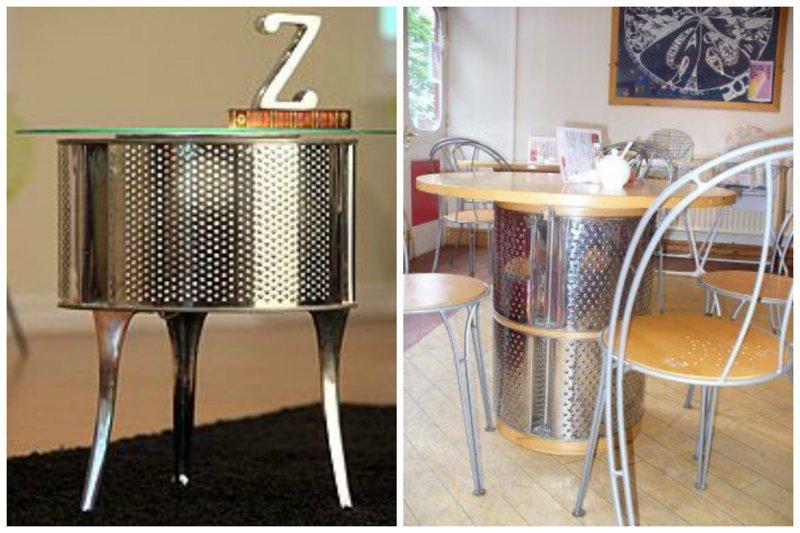 Если барабан не один, то вполне может получиться и полноценный обеденный столик Фабрика идей, лайфхаки для дома и сада, переделки, своими руками, стиральная машина