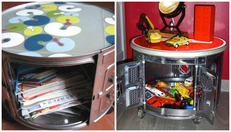 6. Тумбочка со столешницей Фабрика идей, лайфхаки для дома и сада, переделки, своими руками, стиральная машина