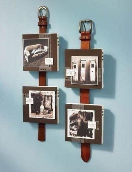 3. Декор с помощью ремней преобразит комнату, обычные вещи обретут новый вид Стиль, дизайн, мастер на все руки, новая жизнь старых вещей, переработка, ремни, своими руками, сделай сам