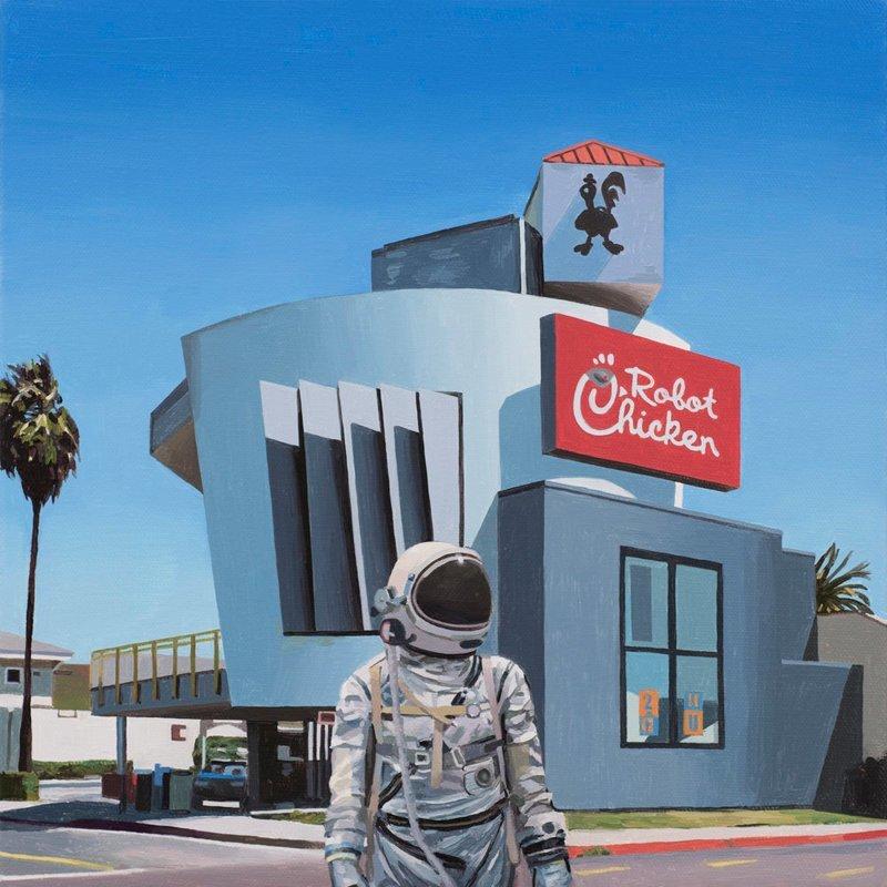 «Одинокий астронавт» Скотта Листфилда искусство, картины, одинокий астронавт, скотт листфилд