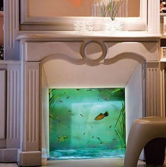 Камин Фабрика идей, аквариумы, виды, красота, невероятно, фантазия