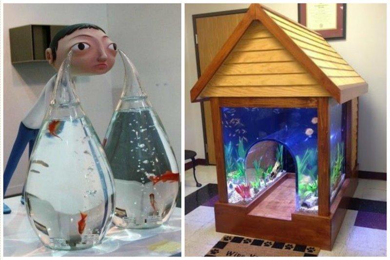 Ну совсем необычные аквариумы Фабрика идей, аквариумы, виды, красота, невероятно, фантазия