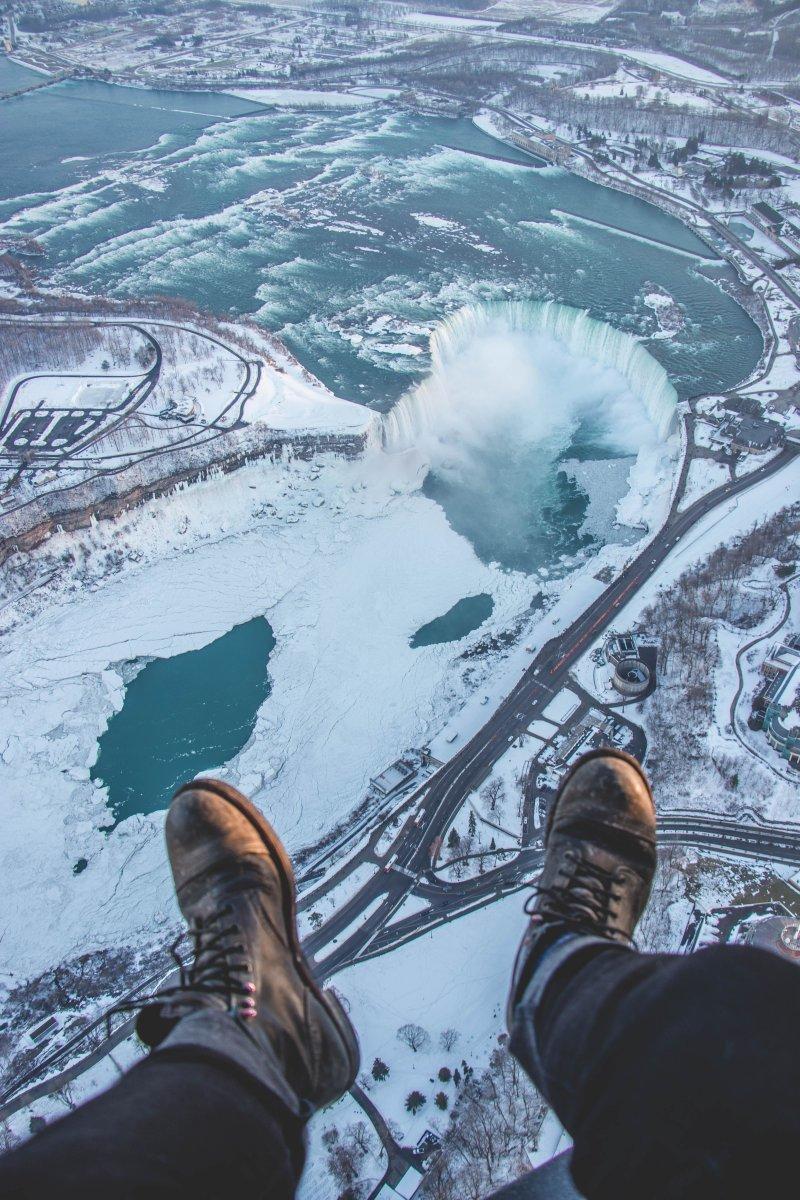 Полет над Ниагарским водопадом день, животные, кадр, люди, мир, снимок, фото, фотоподборка