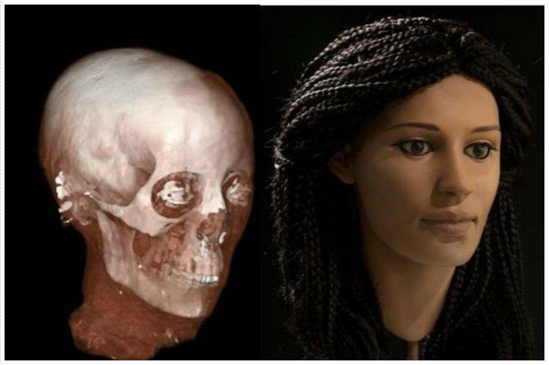 Меритамун, умерла около 2000 лет назад антропологическая реконструкция, восстановление, люди прошлого, наука, черепа