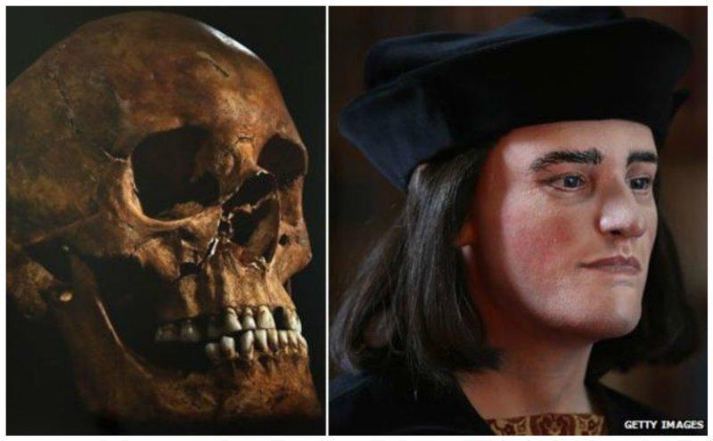 Ричард III, чьи останки были найдены на автостоянке антропологическая реконструкция, восстановление, люди прошлого, наука, черепа
