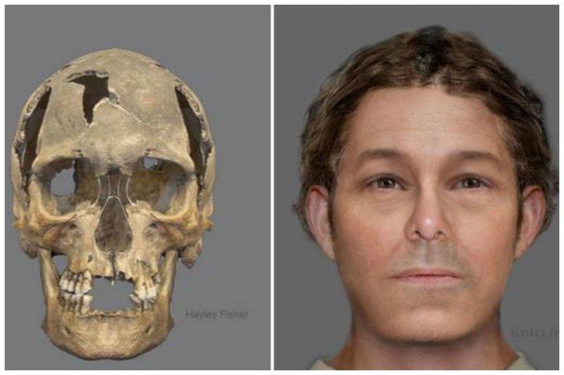 Пират, 16-17 век антропологическая реконструкция, восстановление, люди прошлого, наука, черепа