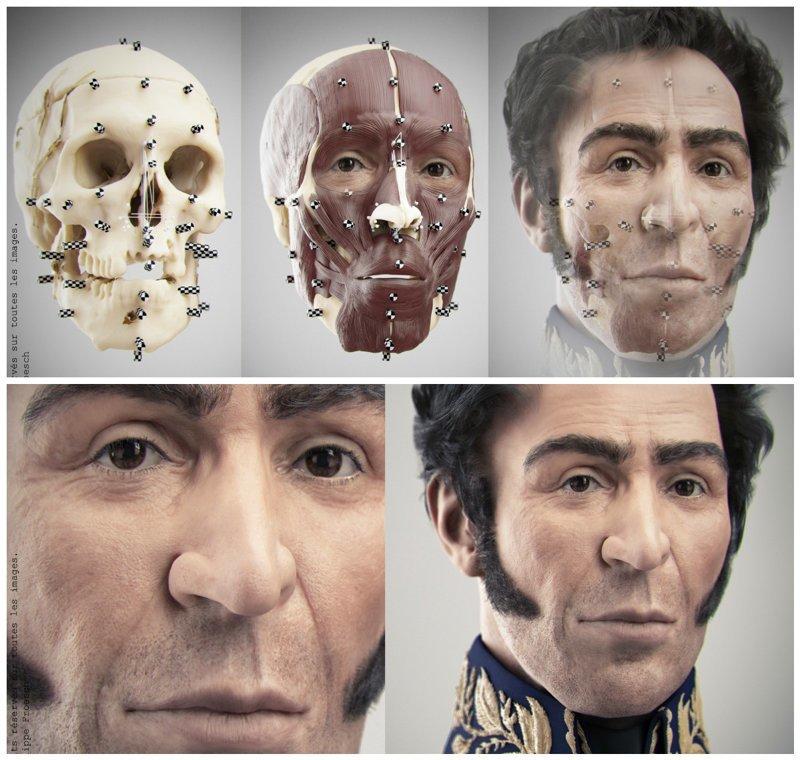 Симон Боливар (1783-1830 гг.) антропологическая реконструкция, восстановление, люди прошлого, наука, черепа